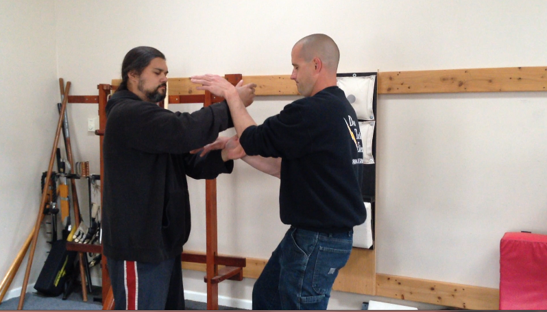 Doing Some Blind Chi Sao – This Is One Way To Develop Sensitivity Skill