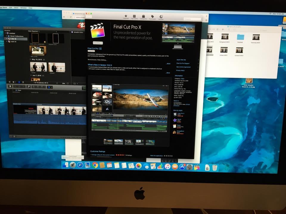 Imac, Retina 5k, Final Cut Pro X